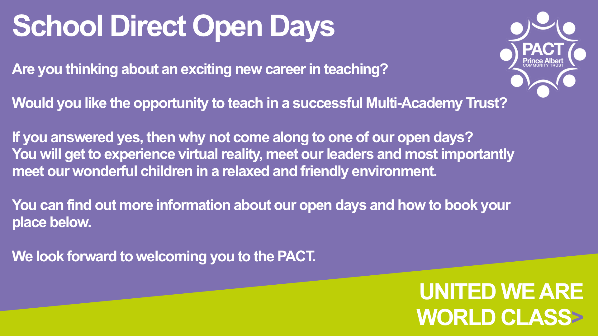 school direct open